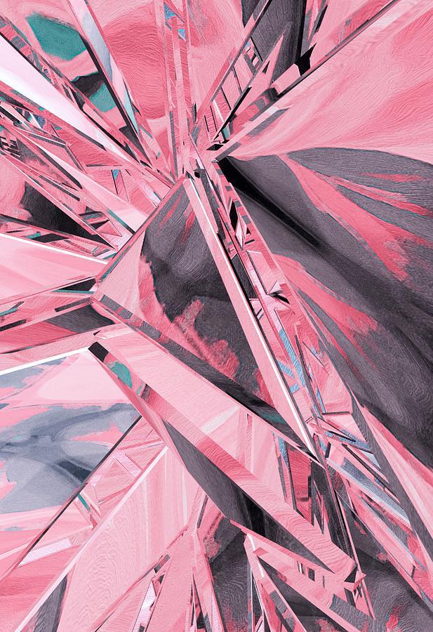 Pink In Pieces Digital Art