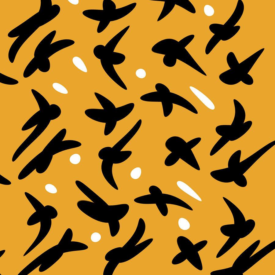 Abstract Digital Art - Soar_Mustard by Jeremy Edsall