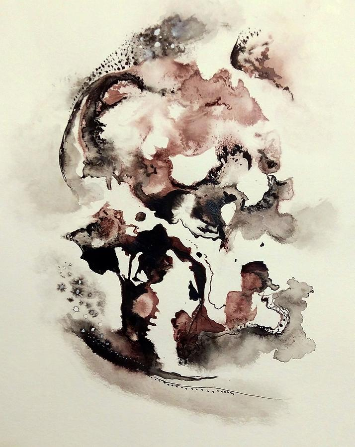 Ink Painting Painting - Sobisi Kasunga by Wolfgang Schweizer