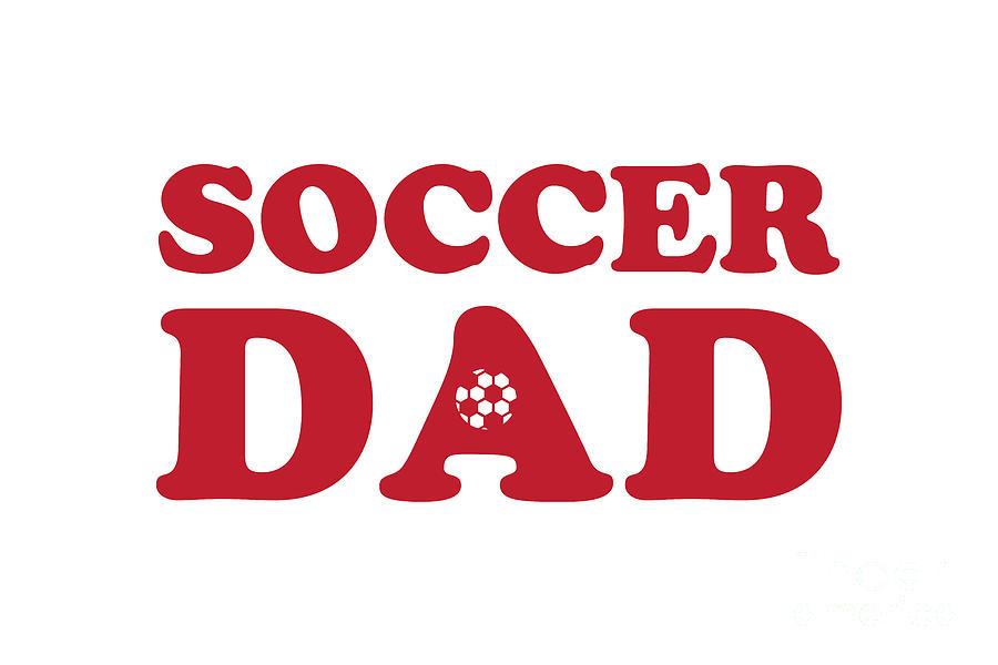 Soccer Dad Red Digital Art