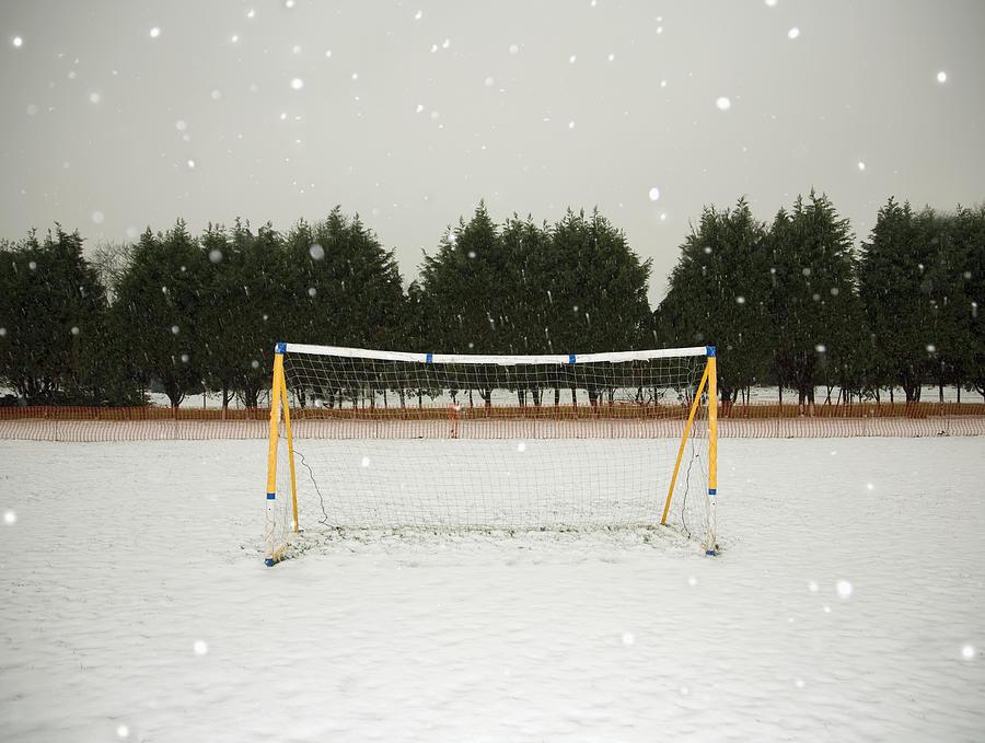 Soccer net in winter Photograph by Ashley Jouhar