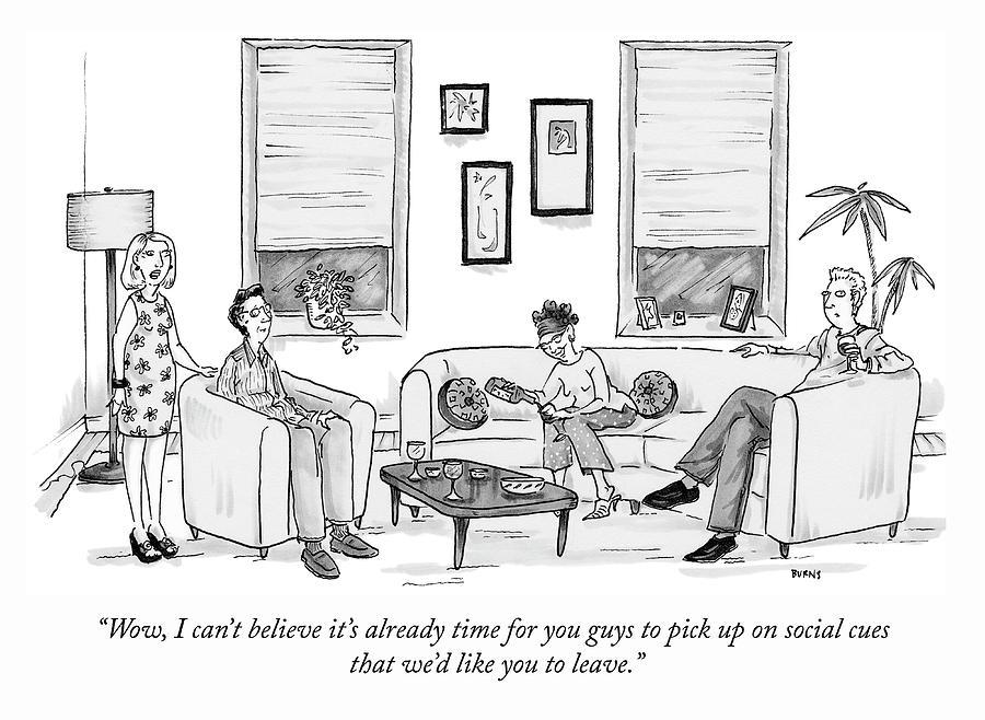 Social Cues Drawing by Teresa Burns Parkhurst