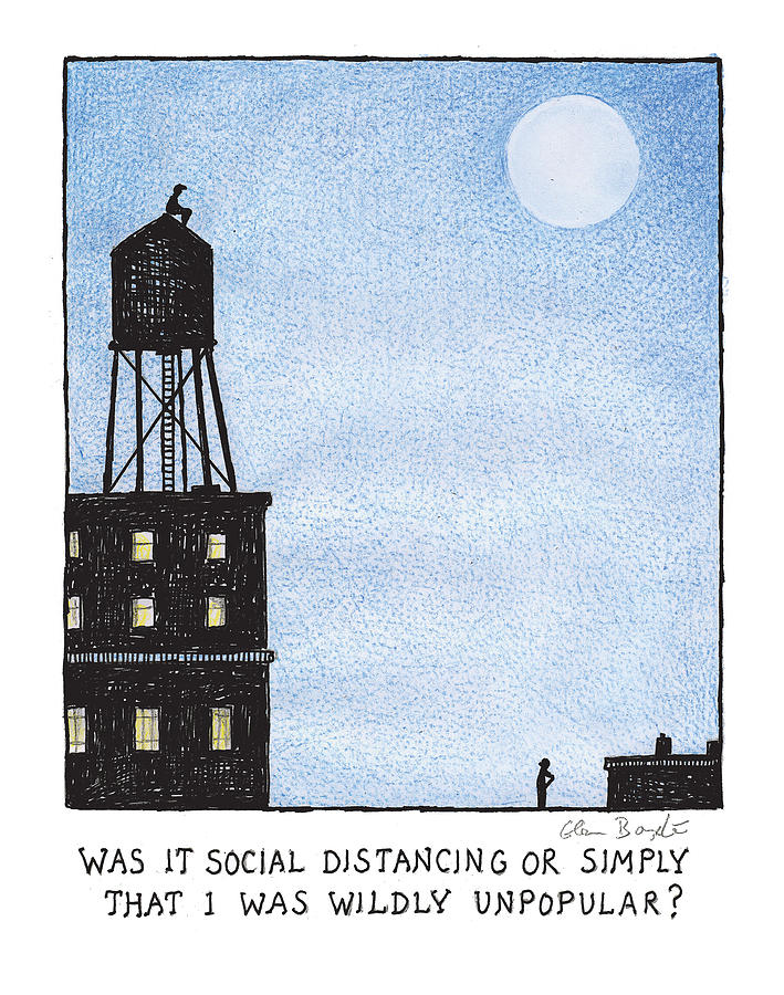 Social Distancing Photograph by Glen Baxter