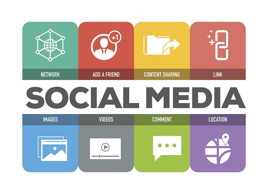 Social Media Icons Set Drawing by Cnythzl