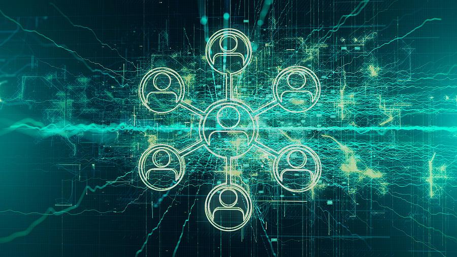 Social Media, Social Network Background Concept Photograph by Blackdovfx