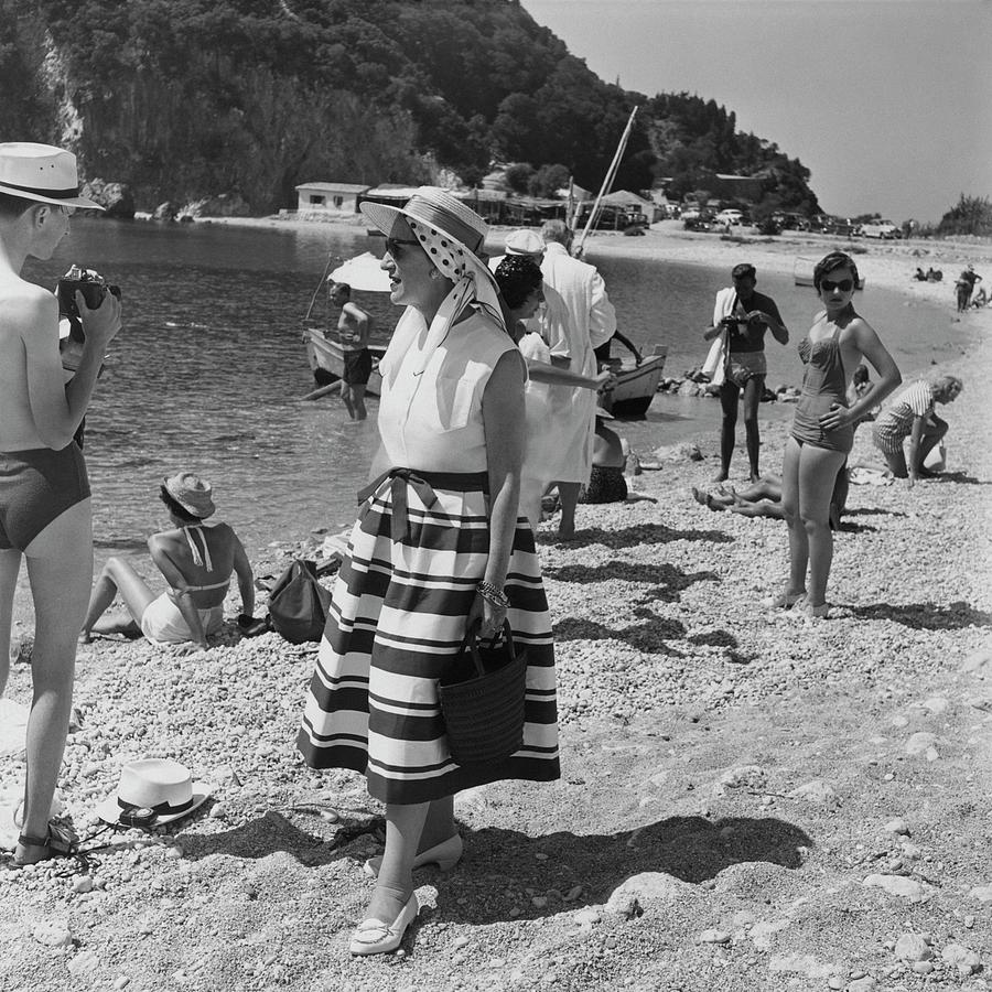 Socialite Kitty Miller On The Island Of Corfu Photograph by Henry Clarke