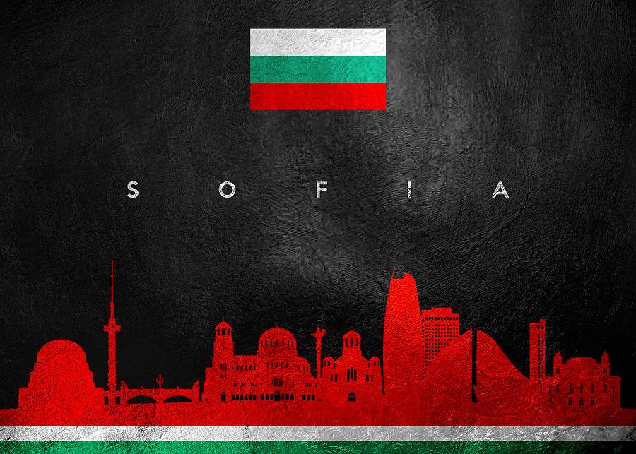 Sofia Bulgaria Skyline Digital Art