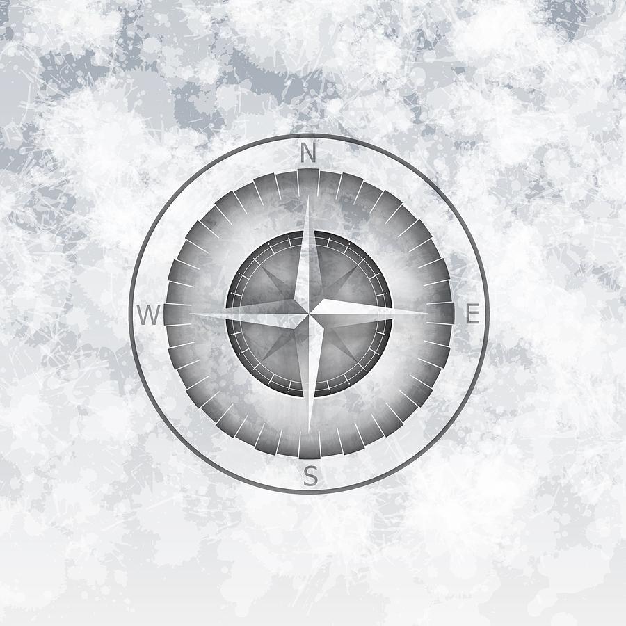 Soft Compass Mist Digital Art