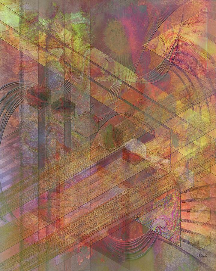 Abstract Digital Art - Soft Fantasia by Studio B Prints