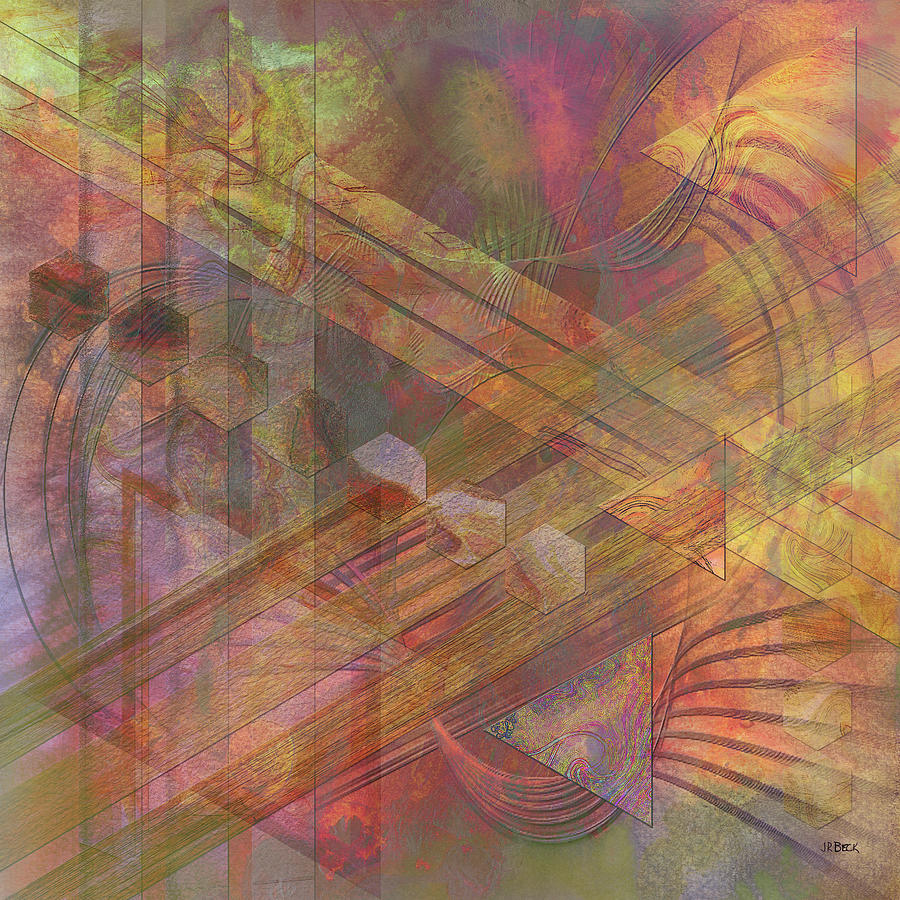 Abstracts Digital Art - Soft Fantasia - Square Version by Studio B Prints