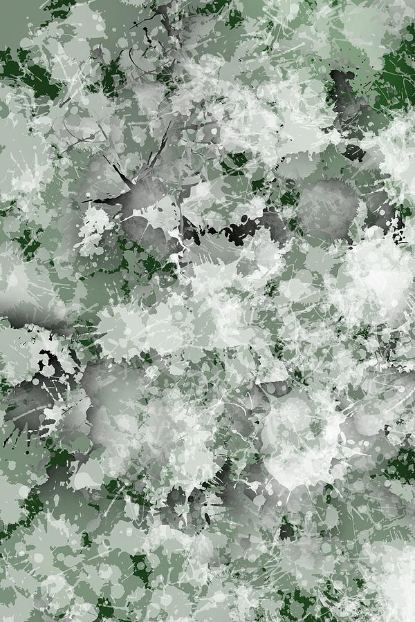 Soft Green Grunge Fashion, Digital Art
