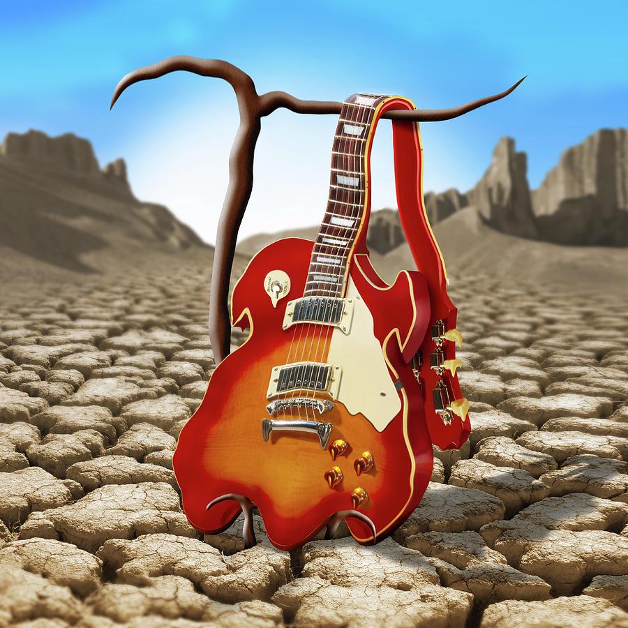 Surrealism Photograph - Soft Guitar II by Mike McGlothlen