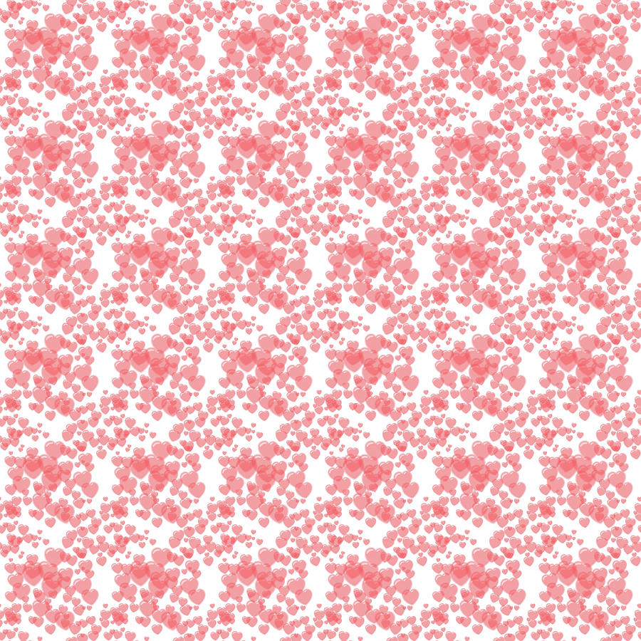 Soft Digital Art - Soft seamless pink pattern with hearts by Elena Sysoeva