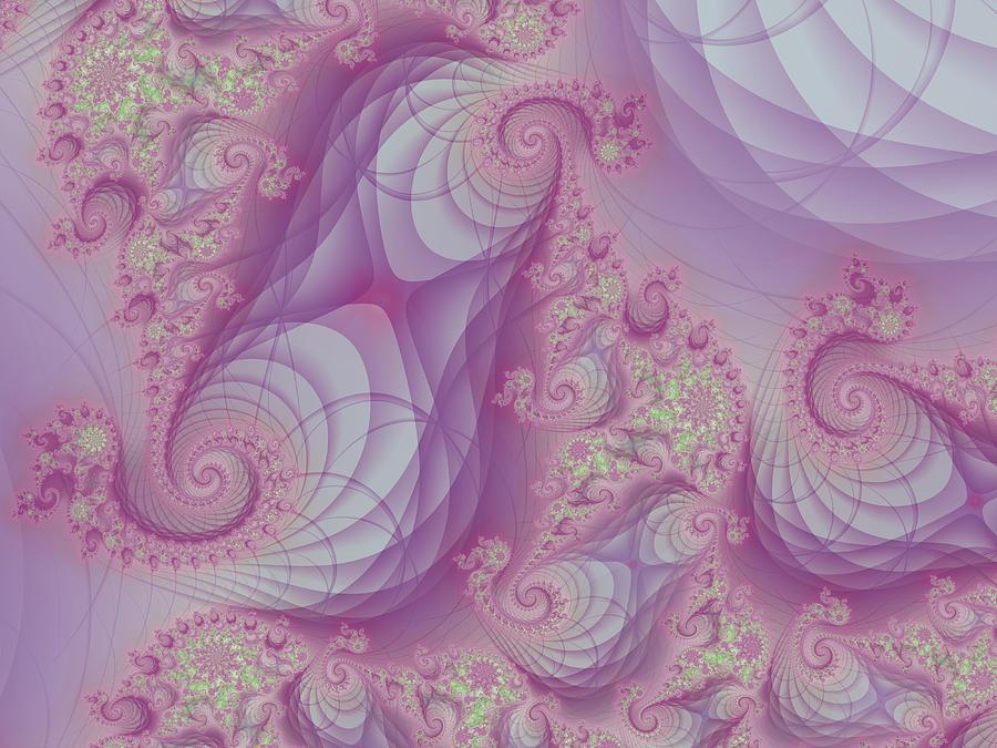 Fractal Digital Art - Soft Shells by Jussi Laasonen