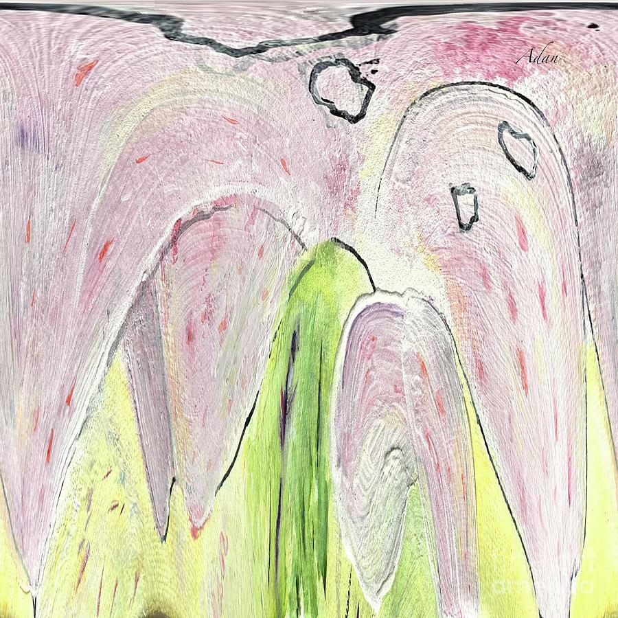 Soft Violet Abstract Digital Art