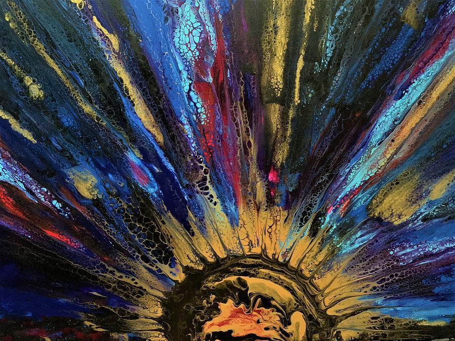 Solar Burst Painting