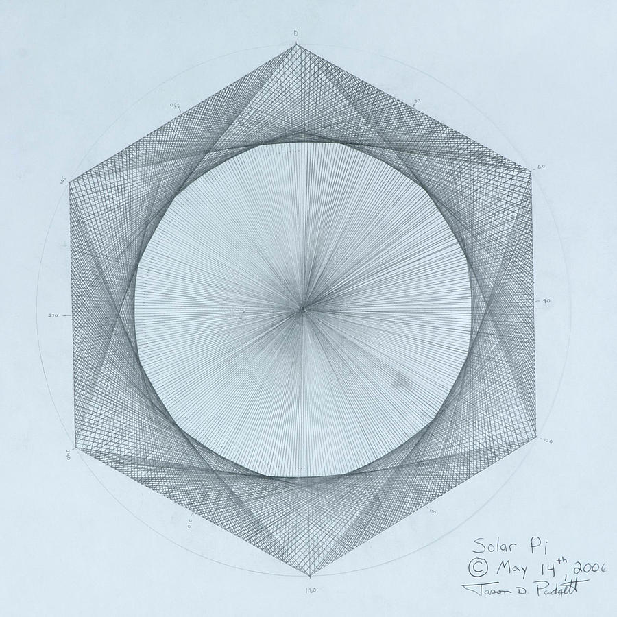 Solar Drawing - Solar Pi by Jason Padgett