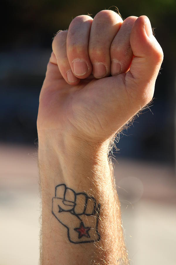 Wisconsin Photograph - Solidarity Fist by Callen Harty
