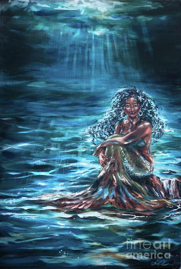Solitary Mermaid by Linda Olsen