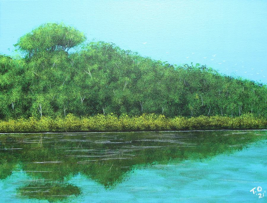 Solitary Reflection Painting