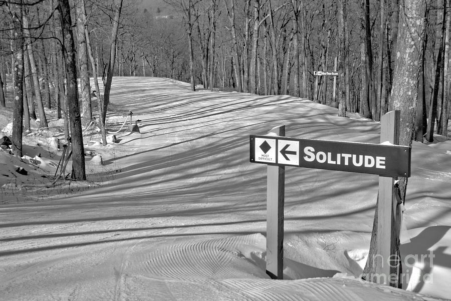 Solitude In The Poconos Black And White by Adam Jewell