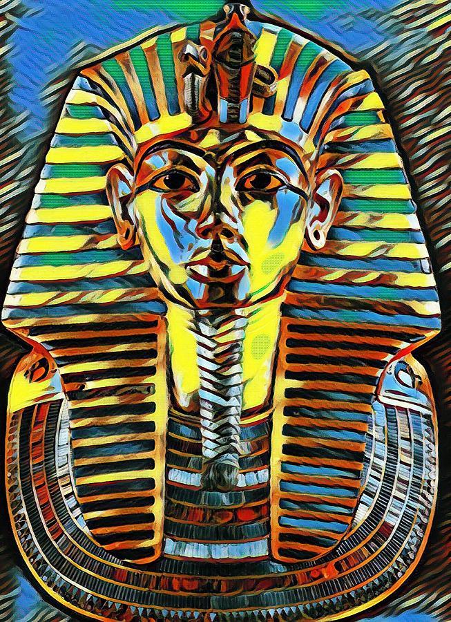 King Tut Digital Art - Sollog Pop Art King Tut by Sollog Artist