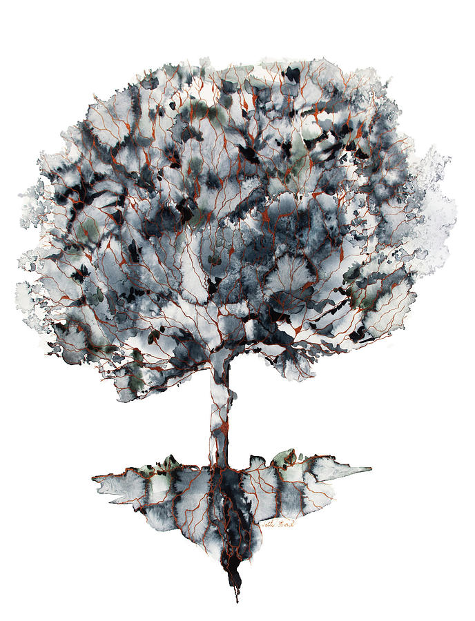Watercolor Painting - Solo Tree by Kelly Edwards