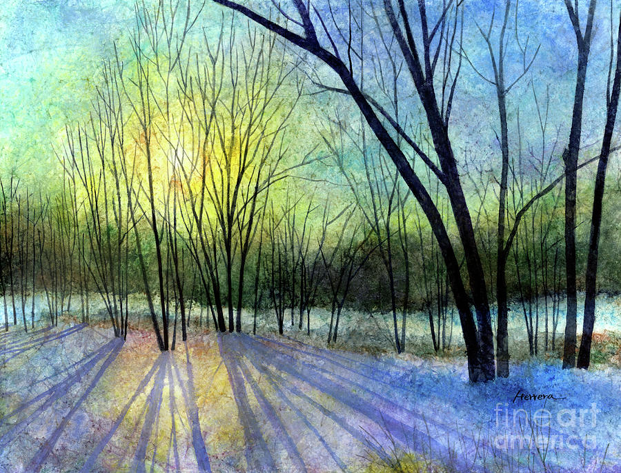Solstice Shadows-pastel Colors Painting