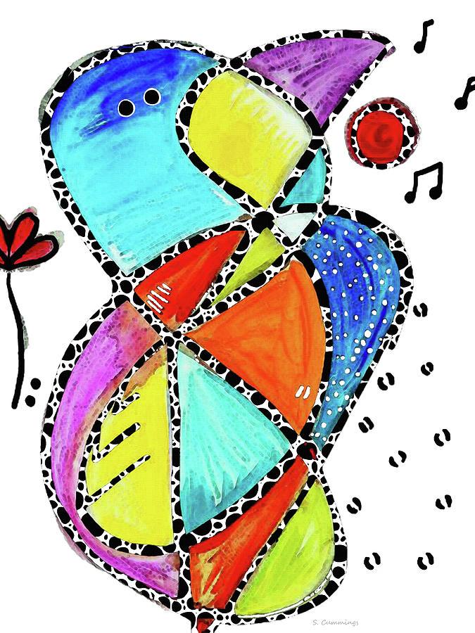 Bird Painting - Song Bird - Colorful Art - Sharon Cummings by Sharon Cummings