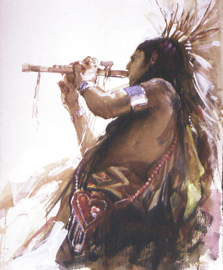 Native American Painting - Song of Courtship by Betty Jean Billups