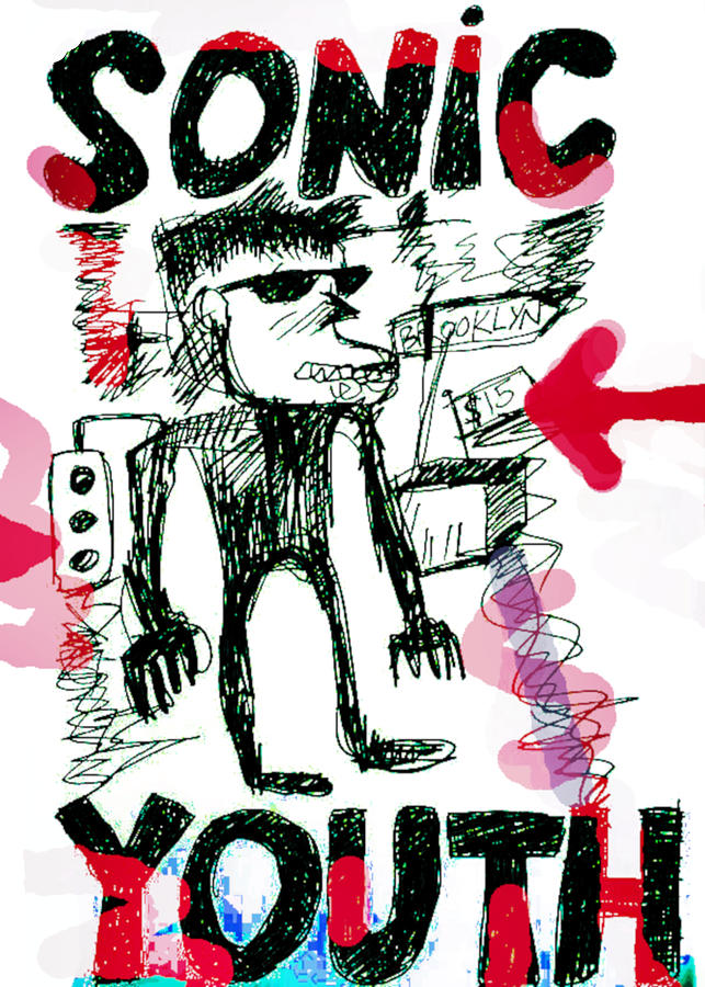 Sonic Youth N Y Design Drawing