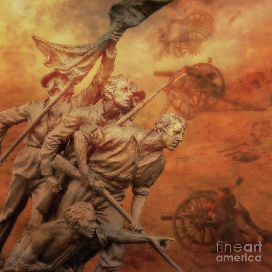 Sons Of The South North Carolina Gettysburg Digital Art