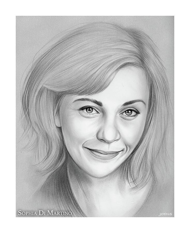 English Drawing - Sophia DiMartino by Greg Joens
