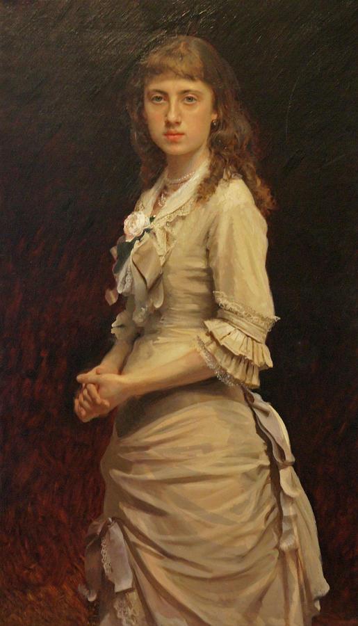 Tretyakov Gallery Painting - Sophia Ivanovna Kramskoy, Daughter of the Artist by Ivan Kramskoy