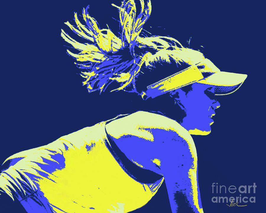 Tennis Painting - Sophia Kenin by Jack Bunds
