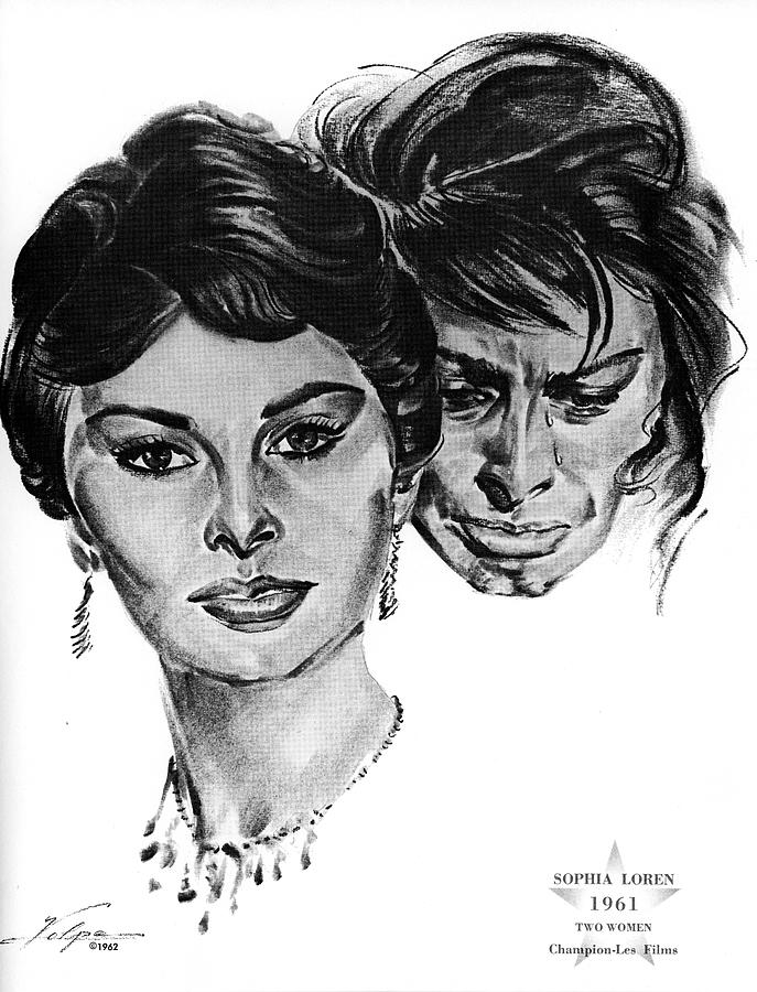 Sophia Loren By Volpe Drawing