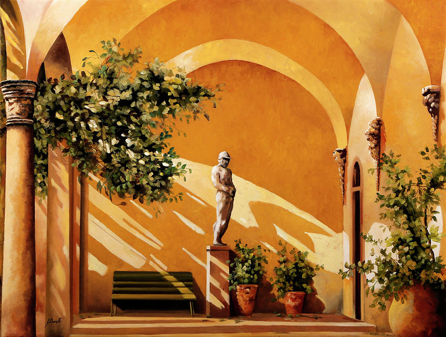 Arcade Painting - Sotto Il Portico by Guido Borelli