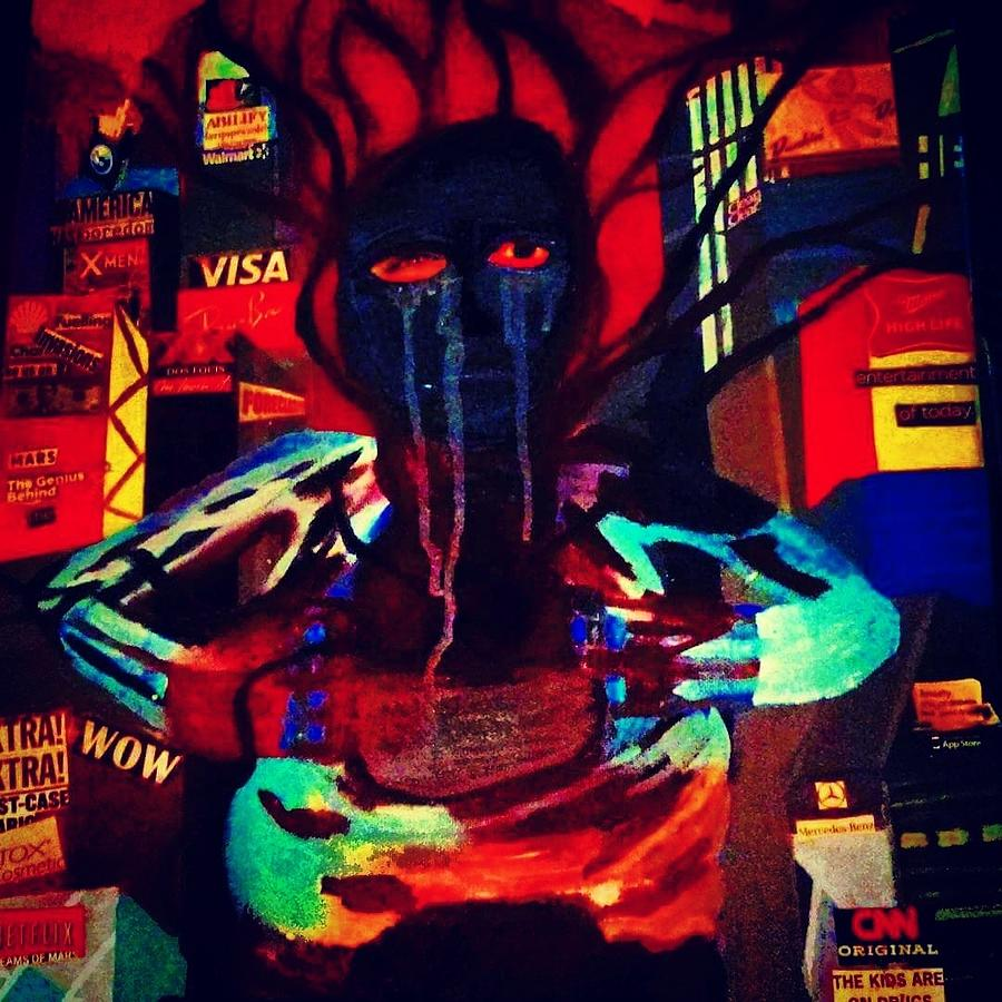 Soul Searching In The City Mixed Media
