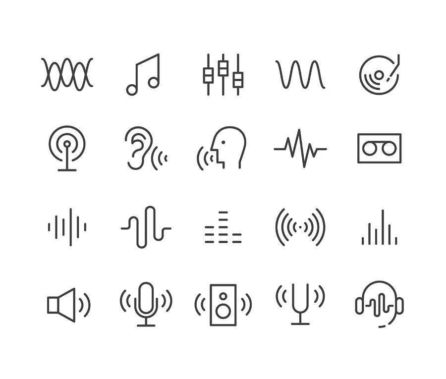 Sound Icons - Classic Line Series Drawing by -victor-