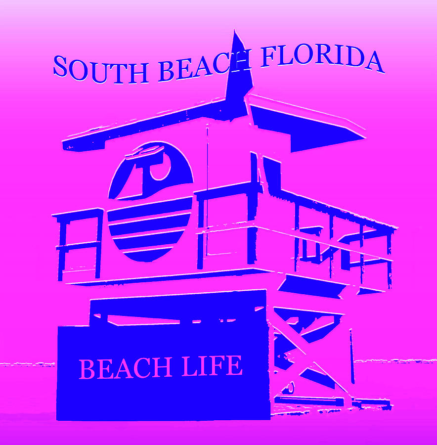 South Beach Florida Mixed Media