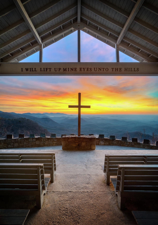 Pretty Place Chapel Photograph - South Carolina Pretty Place Chapel Sunrise Embraced by Dave Allen