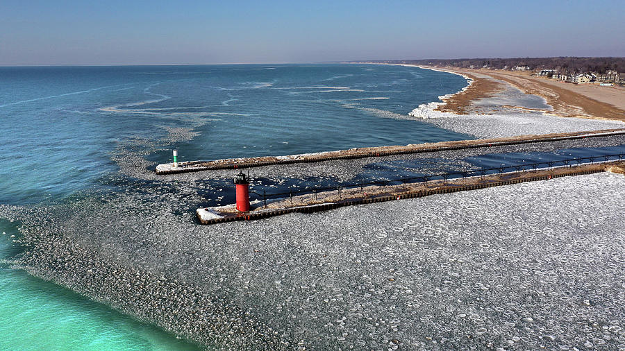South Haven, Michigan Ice Melt In Spring Photograph