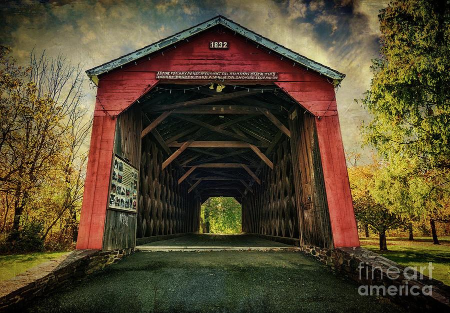 South Perkasie Covered Bridge by Debra Fedchin
