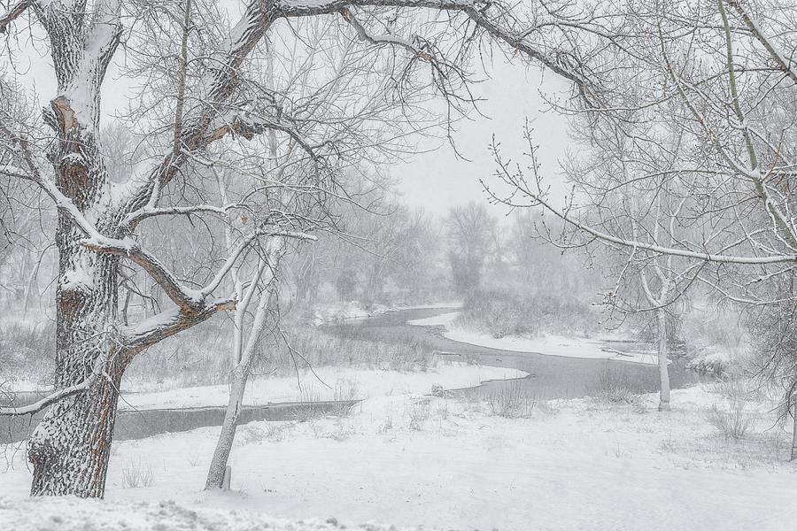 South Platte Snow Photograph