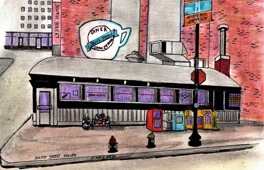 South Street Diner Drawing
