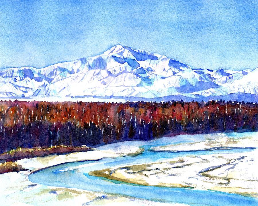 Alaska Painting - South Viewpoint Denali Mountain by Carlin Blahnik CarlinArtWatercolor