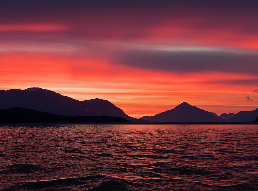 Southeast Alaskan Sunset by Michele Cornelius