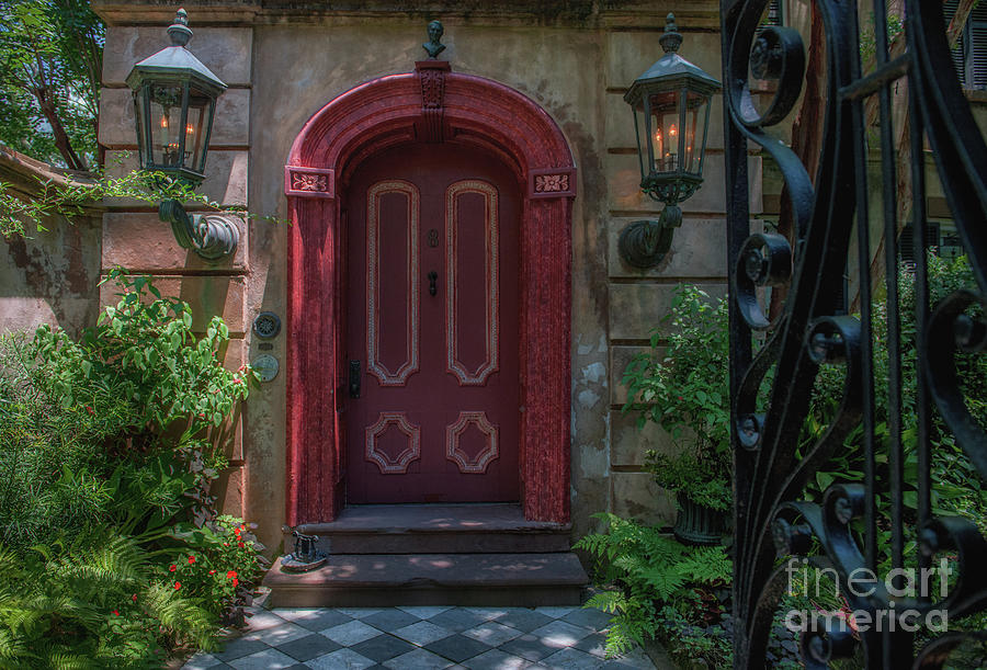 Southern Red Door - Charleston Grand Entrance Photograph