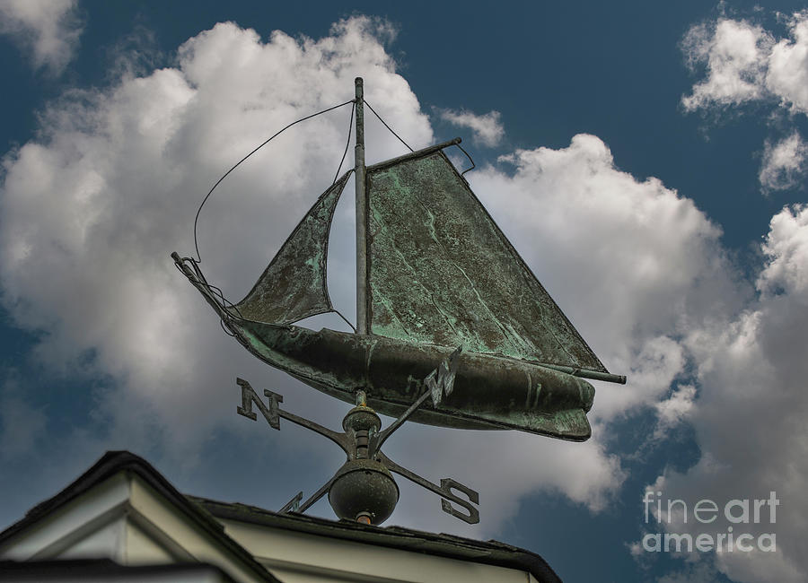Southern Winds - Sailboat Weather Vane Photograph