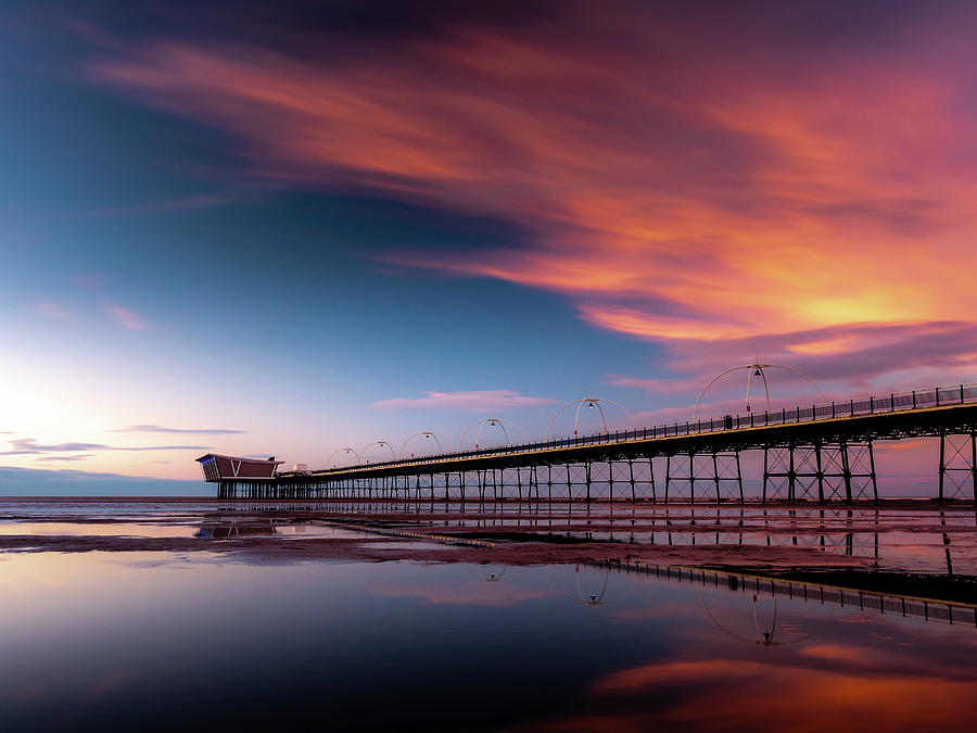 Sunset Photograph - Southport Pier Sunset by Andrew George Photography